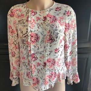Banana Republic floral blouse Size Medium